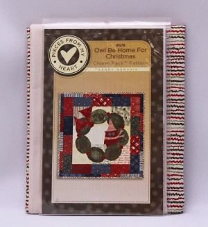 Quilt Kit - Owl Be Home for Christmas Nature's Christmas by Sandy Gervais Holidays Winter Cotton Fabric Quilting Quilter's Kit - Sold by the Kit (M416.05)