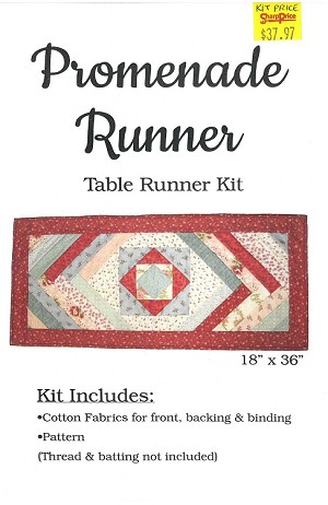 "Quilt Kit - Promenade Runner 18"" x 36"" Table Runner Quilt as You Go Quilting Kit - Sold by the Kit (M416.16)"