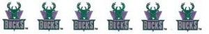 7/8' Wide Ribbon - Milwaukee Bucks NBA Pro Basketball Sports Team Satin Ribbons By the Yard M419.02