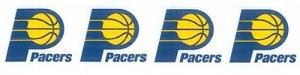 "7/8"" Wide Ribbon - Indiana Pacers NBA Pro Basketball Sports Team Satin Ribbons By the Yard M419.08"