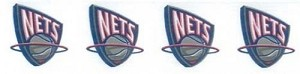 1.5' Wide Ribbon - New Jersey Nets Retro NBA Pro Basketball Sports Team Satin Ribbons By the Yard M419.17