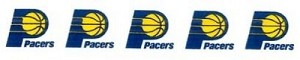 "1.5"" Wide Ribbon - Indiana Pacers NBA Pro Basketball Sports Team Satin Ribbons By the Yard M419.18"