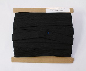 "25 yard Reel - 1"" wide Gripper Waistband Sport Elastic Sold By the Reel - Black (M420.01)"