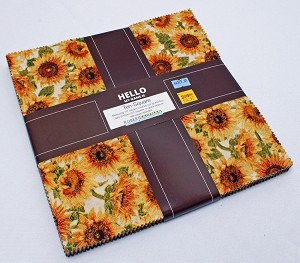 "10"" Layer Cake Squares - Shades of the Season Lynnea Washburn Fall Autumn Flowers Feathers Fabric Bundle Quilter's Cotton Precuts (TEN-604-42) M525.01"
