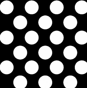 Fleece (not for masks) Medium Dot Black with White Dots Fleece Fabric Print by the Yard k30475-4b