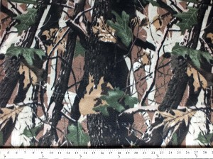Fleece (not for masks) Camouflage Bark Fleece Fabric Print by the Yard ocamobarkf
