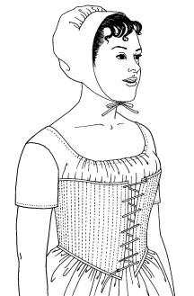 Past Pattern #030 A Pair of Transition Stays Fashionable Corset Circa 1796-1806 Sewing Pattern (pastpattern030-8-14)