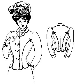 Past Pattern 1899-1900 Double Breasted Dress Jacket Sewing Pattern