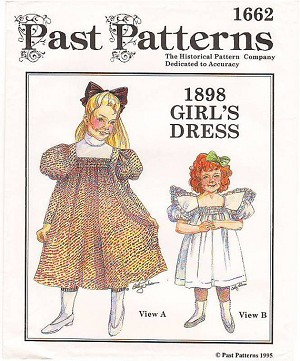 Past Pattern #1662 Circa 1898 Little Girls Dresses Gown Sewing Pattern (pastpattern1662)