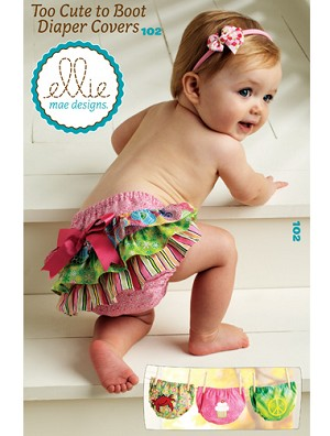 Kwik-Sew Pattern – Too Cute To Boot Diaper Covers
