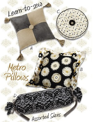 Kwik-Sew Pattern – Metro Pillows