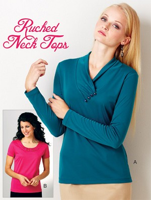 Kwik-Sew Pattern – Ruched Neck Tops