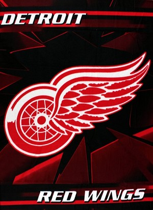 Detroit Red Wings NHL Professional Hockey Sports Team 50x60 Fleece Fabric Finished Throw