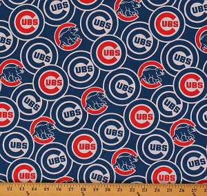 (Discontinued) Cotton Chicago Cubs MLB Baseball Sports Team Cotton Fabric Print by the Yard (s6684bf)