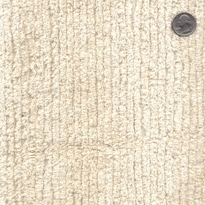 Cotton Terry Chenille Fabric by the Yard - Natural (TC0521-596)