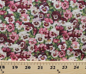 Cotton pansy pink purple white pansies flowers floral summer garden cotton pansy pink purple white pansies flowers floral summer garden cotton fabric print by the yard mightylinksfo