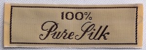 "100 Count Garment Labels - ""100% Pure Silk"" Cloth Sew-in Labels U001.36-100labels"