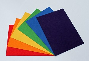 "Ultrasuede® ST (Soft) 6 Piece Variety Pack - Assorted 5""x 7"" Pre-cuts - Rainbow Brights (U007.52)"