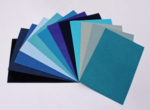 "Ultrasuede® ST (Soft) 6 Piece Variety Pack - Assorted 5""x 7"" Pre-cuts - Blue Aqua Blues (U007.53)"