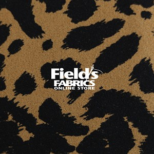 "Ultrasuede® LT (Light) Jungle Prints 58"" wide #176-231-58 Jaguar Print Tan/Blk Fabric by the Yard"